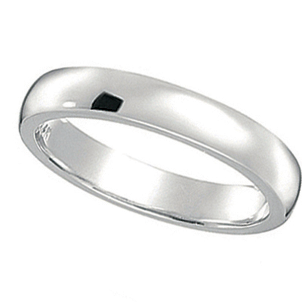 Dome Comfort Fit Wedding Ring Band 14k White Gold (2mm)