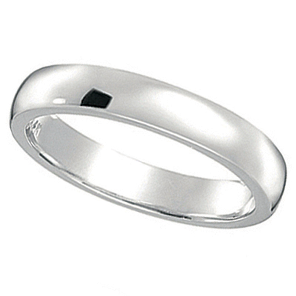 Dome Comfort Fit Wedding Ring Band Platinum (2mm)