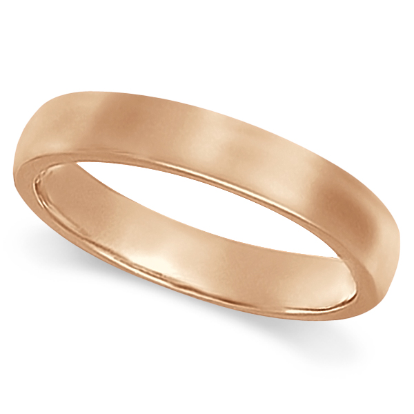 Dome Comfort Fit Wedding Ring Band 14k Rose Gold (3mm)