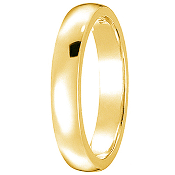 Dome Comfort Fit Wedding Ring Band 18k Yellow Gold (3mm)