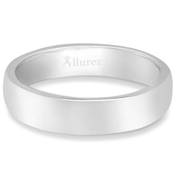 Dome Comfort Fit Wedding Ring Band Palladium (4mm)