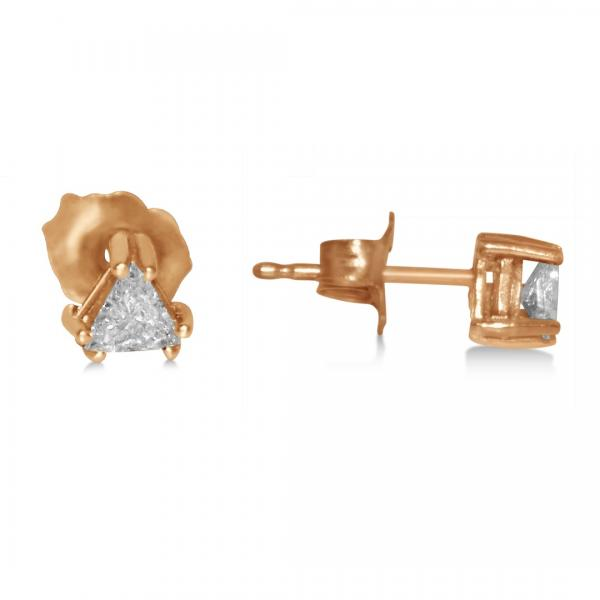 Triangle Diamond Stud Earrings in 14k Yellow Gold (0.25ct)