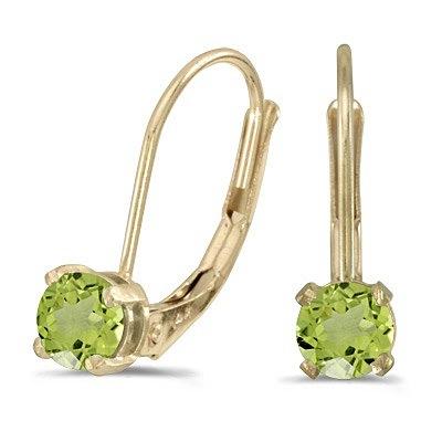 Peridot Lever-Back Drop Earrings 14k Yellow Gold (0.60ctw)