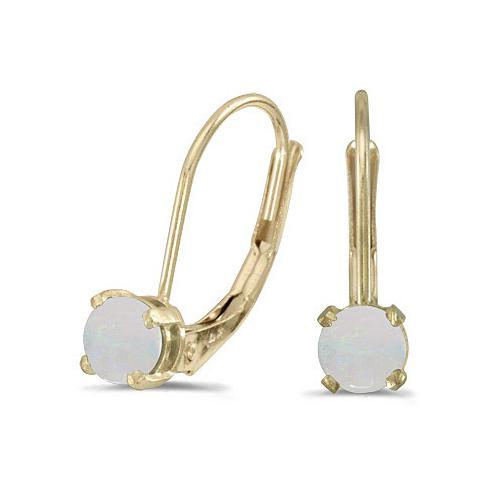 Opal Lever-Back Drop Earrings 14k Yellow Gold (0.60ctw)