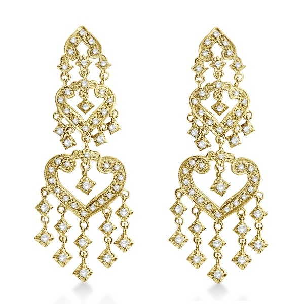 Diamond Chandelier Earrings in 14k Yellow Gold (1.01ct)