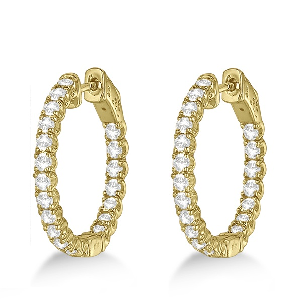 Medium Round Diamond Hoop Earrings 14k Yellow Gold (2.00ct)