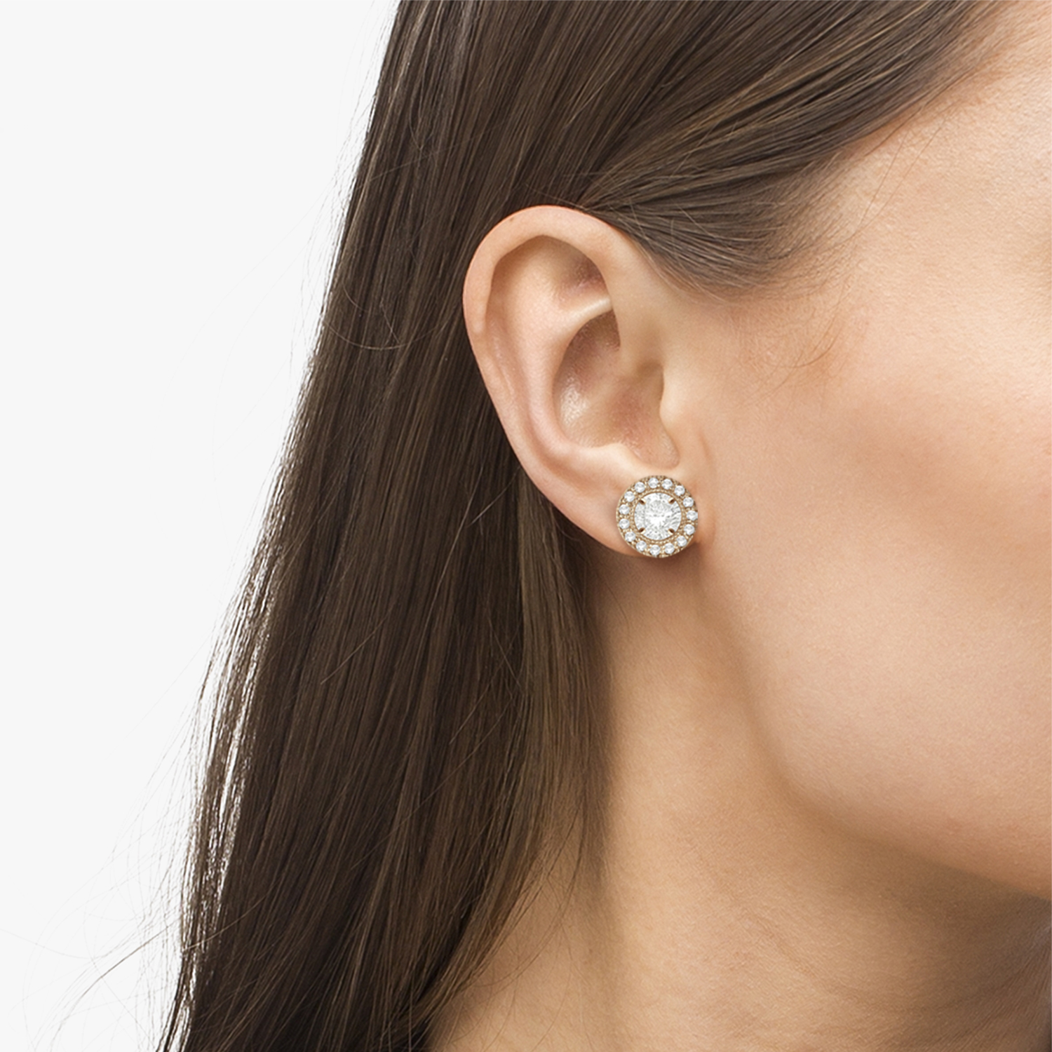 Vintage Round Cut Diamond Earring Jackets 14k Rose Gold (0.40ct)