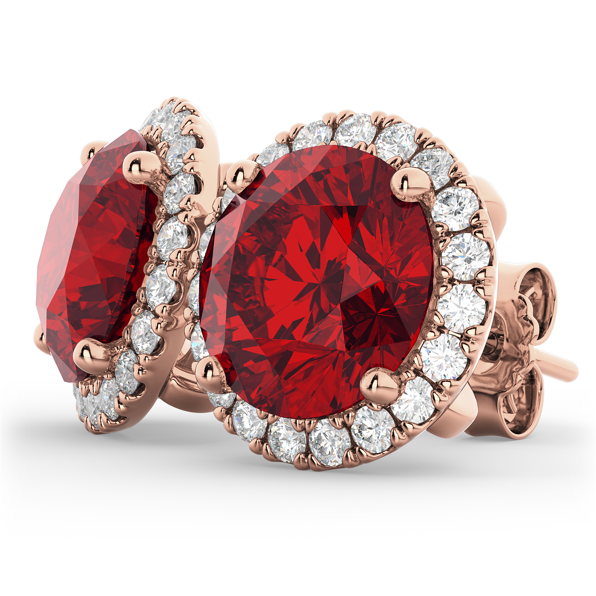 and image ruby oval ring in cocktail white diamond gold