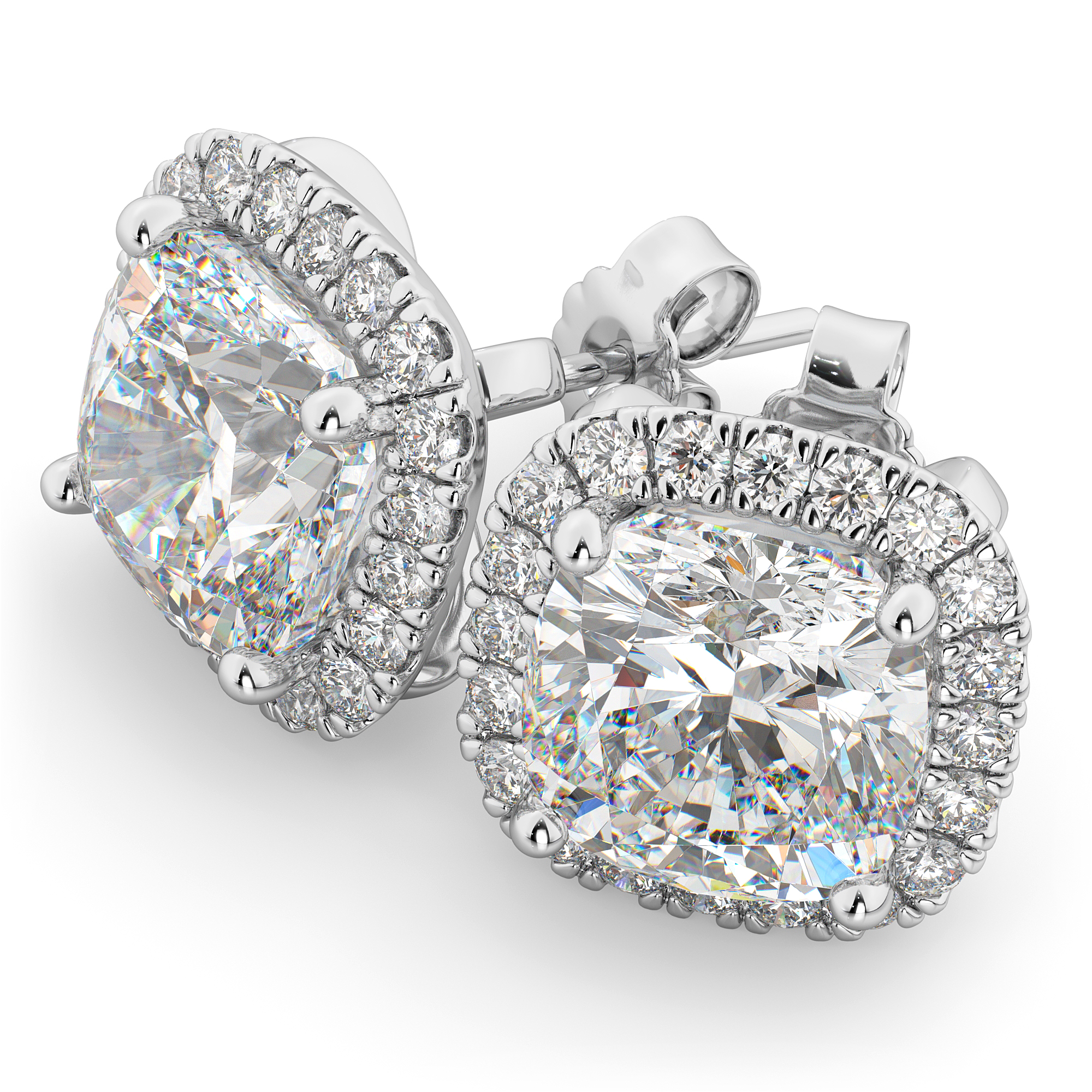 tcw design stud jewelers itm platinum colvard forever one exclusive charles moissanite cushion j h earrings