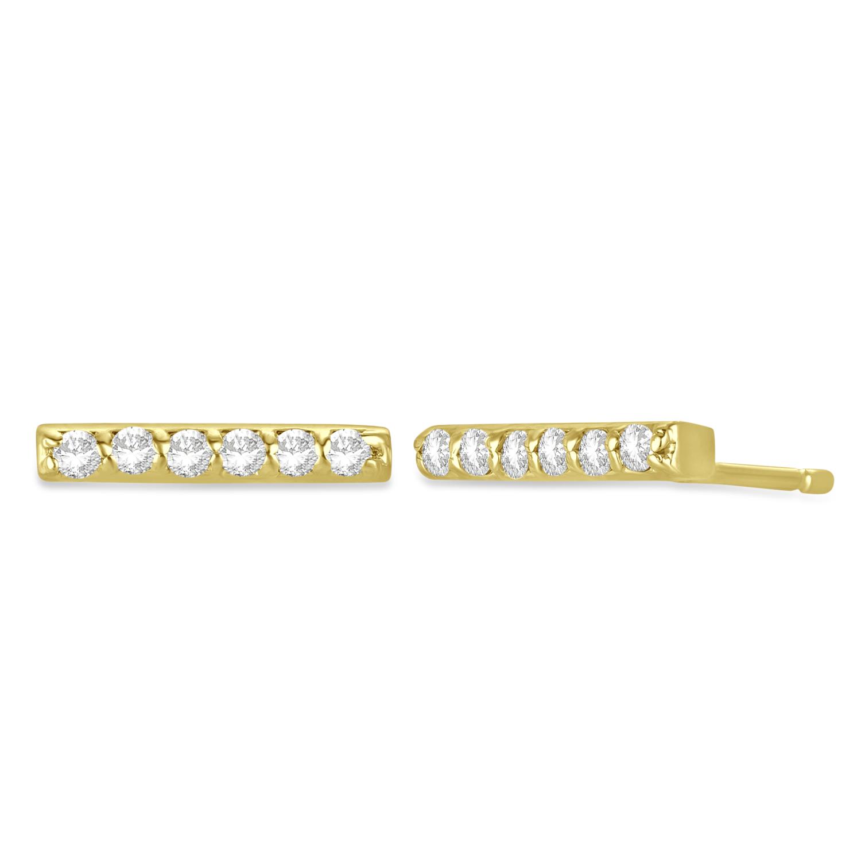 Diamond Bar Earrings 14k Yellow Gold (0.12ct)