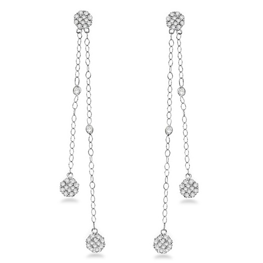 Diamonds By The Yard Cluster Dangling Earrings 14k White Gold (2.00ct)