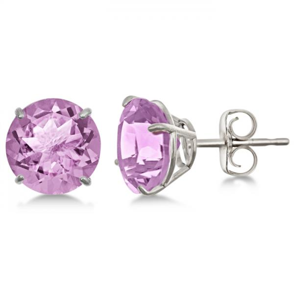 diamond white amethyst fashion stud gold earrings color gabriel
