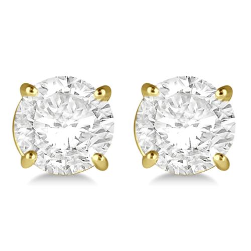 1.50ct. 4-Prong Basket Diamond Stud Earrings 18kt Yellow Gold (H-I, SI2-SI3)