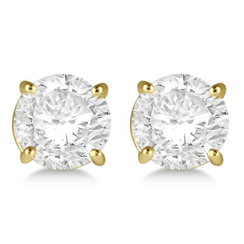 2.00ct. 4-Prong Basket Diamond Stud Earrings 14kt Yellow Gold (G-H, VS2-SI1)