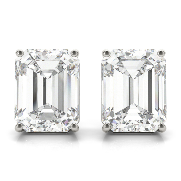2.00ct Emerald-Cut Lab Grown Diamond Stud Earrings Platinum (G-H, VS2-SI1)