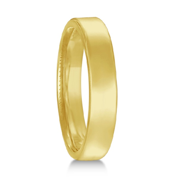 Euro Dome Comfort Fit Wedding Ring Band 14k Yellow Gold (3mm)