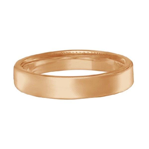 Euro Dome Comfort Fit Wedding Ring Band 18k Rose Gold (3mm)