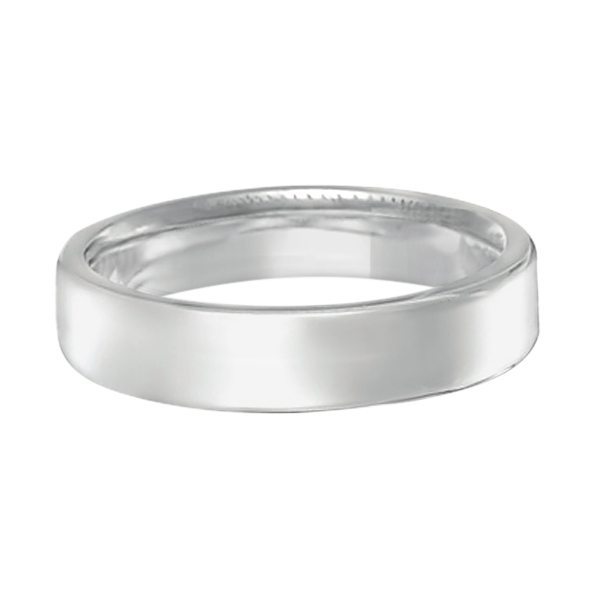Euro Dome Comfort Fit Wedding Ring Band in Palladium (4mm)