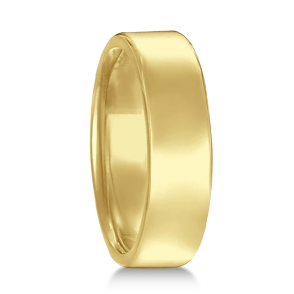 Euro Dome Comfort Fit Wedding Ring Men's Band 14k Yellow Gold (5mm)