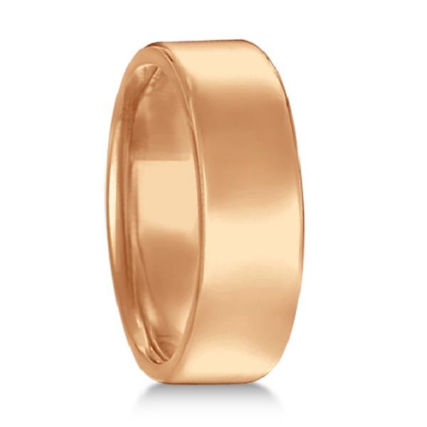 Euro Dome Comfort Fit Wedding Ring Men S Band 14k Rose