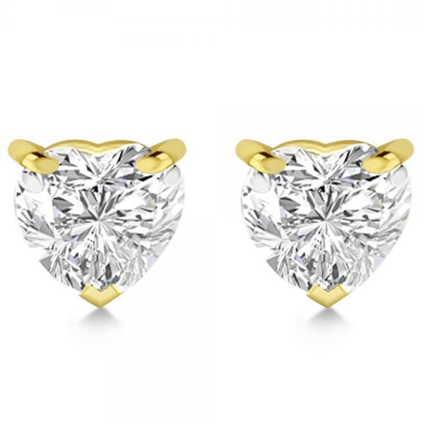 0.50ct Heart-Cut Diamond Stud Earrings 14kt Yellow Gold (G-H, VS2-SI1)