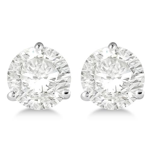 0.50ct. 3-Prong Martini Diamond Stud Earrings Palladium (H-I, SI2-SI3)