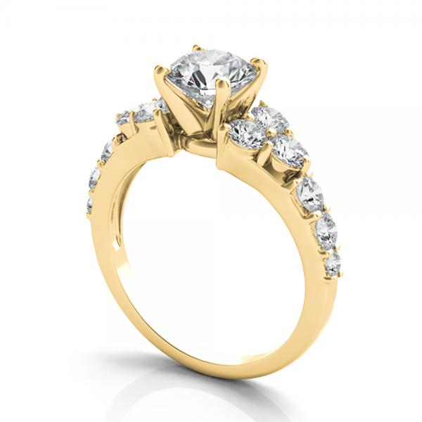 Diamond Engagement Ring Luxury Setting 14k Yellow Gold (1.00ct)