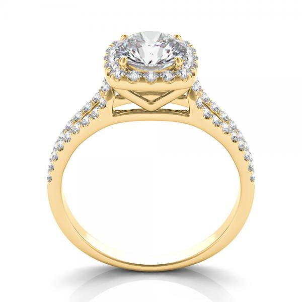 square halo engagement ring 14k yellow gold 1