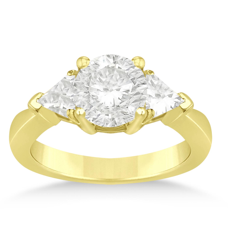 Diamond Trilliant Three Stone Engagement Ring 14k Yellow Gold (0.70ct)