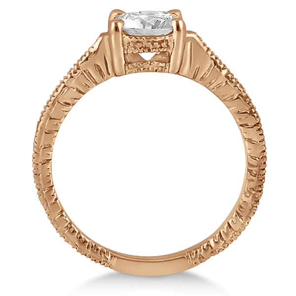 Antique Diamond Vintage Engagement Ring Setting 18k Rose Gold (0.20ct)