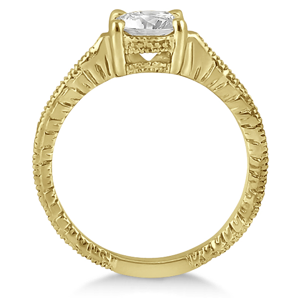 Antique Diamond Vintage Engagement Ring Setting 18k Yellow Gold (0.20ct)