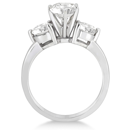 Three Stone Diamond Engagement Ring Setting Platinum (0.50ct)