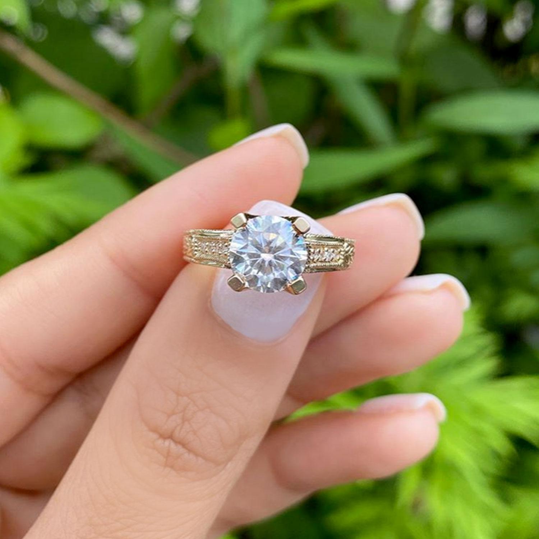 Antique Style Art Deco Diamond Engagement Ring 18k Yellow Gold (0.33ct)