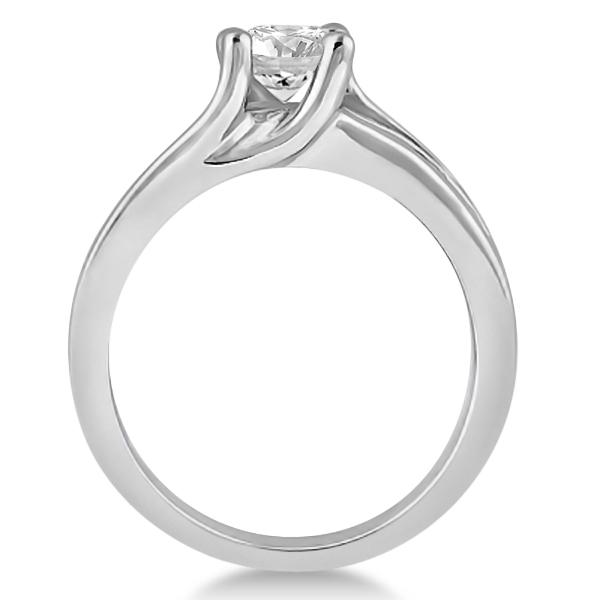 Unique Channel Set Diamond Engagement Ring 18K Yellow Gold (0.80ct)
