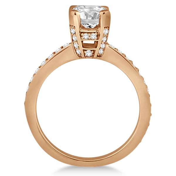 Eternity Diamond Side Stone Engagement Ring 14k Rose Gold (0.45ct)