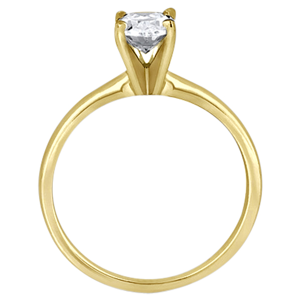 Four-Prong 18k Yellow Gold Solitaire Engagement Ring Setting