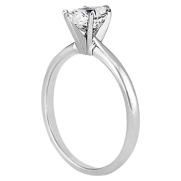 Six-Prong Platinum Engagement Ring Solitaire Setting
