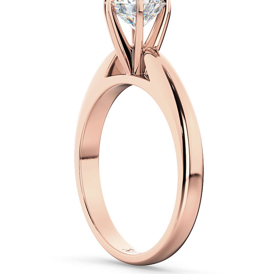 Six Prong 14k Rose Gold Solitaire Engagement Ring Setting Allurez