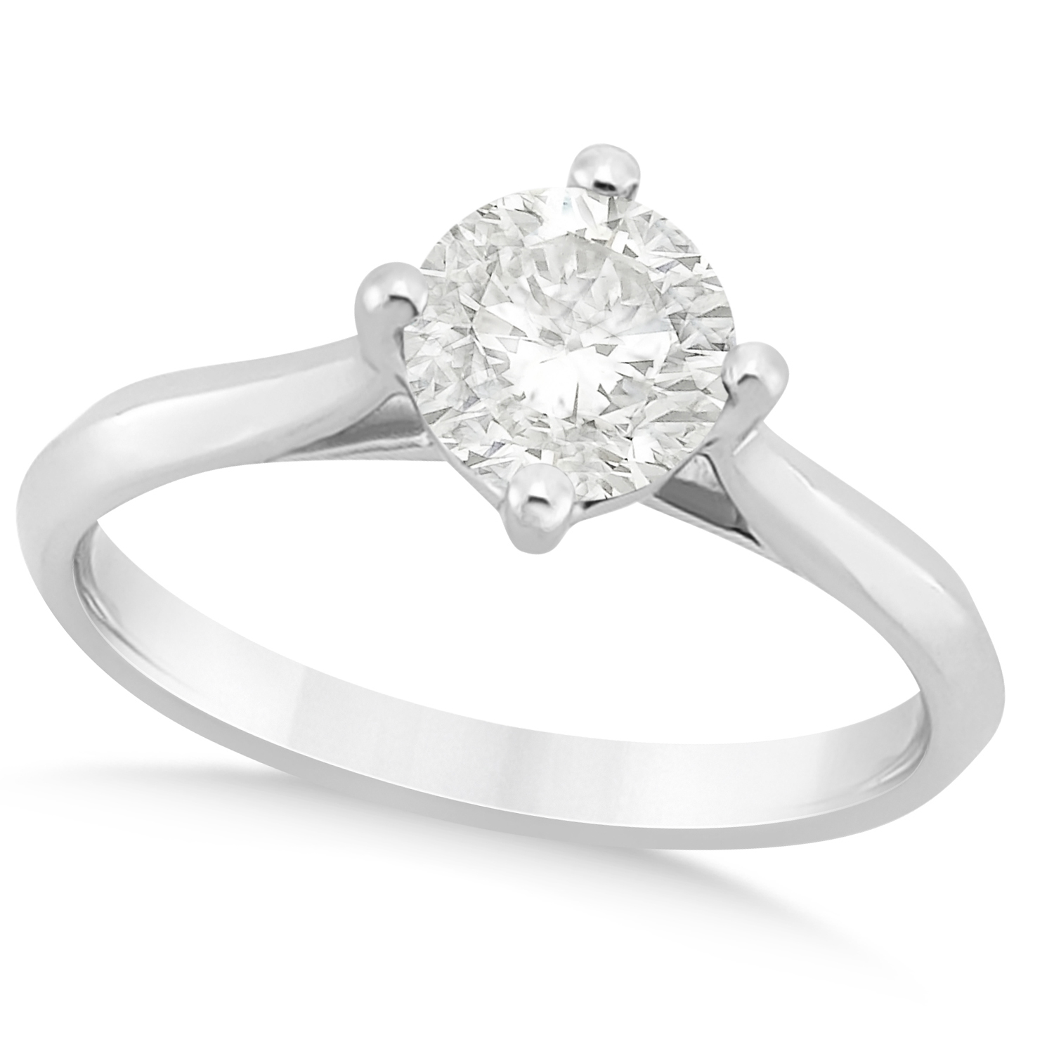 classic co tiffany solitaire dsc prong sz six ring ct platinum engagement products
