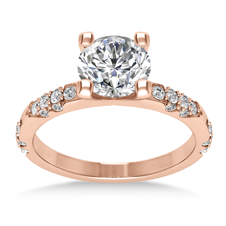 Diamond Prong Engagement Ring 18k Rose Gold (0.32ct)