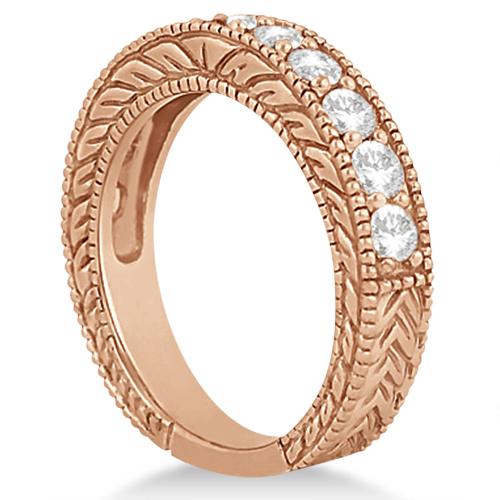 Antique Diamond Wedding & Engagement Ring Set 14k Rose Gold (2.15ct)