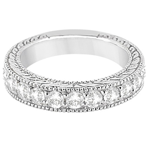 Antique Diamond Engagement Wedding Ring Band Platinum (1.10ct)