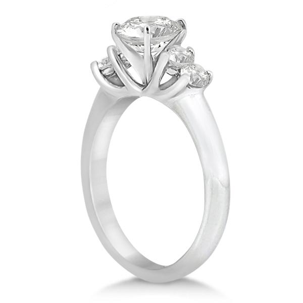 Five Stone Diamond Engagement Ring For Women 14k White Gold (0.40ct)
