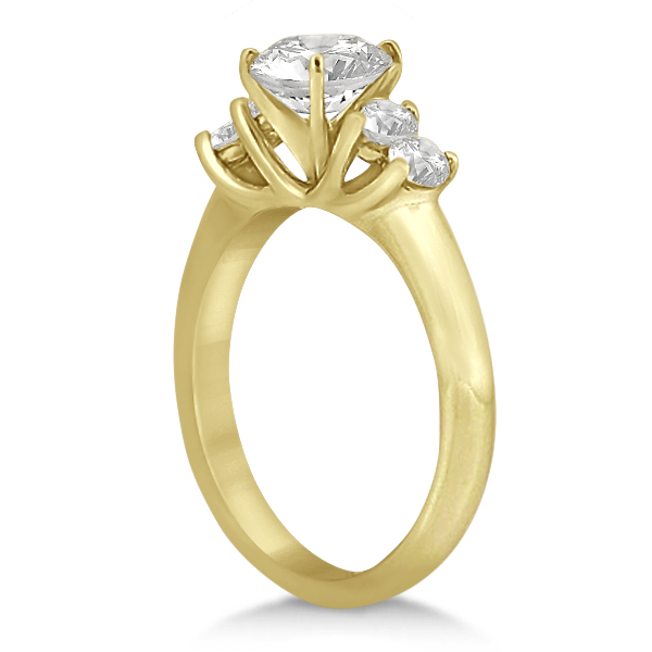 Five Stone Diamond Engagement Ring For Women 14k Yellow Gold (0.40ct)