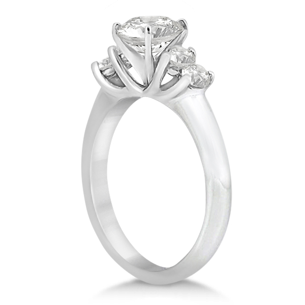 Five Stone Diamond Engagement Ring For Women Palladium (0.40ct)