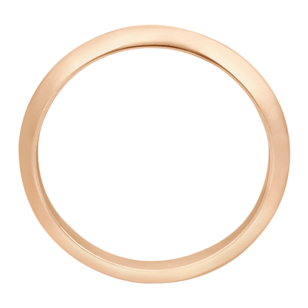 Women's Knife Edge Wedding Band Ring 14k Rose Gold (2.7 mm)
