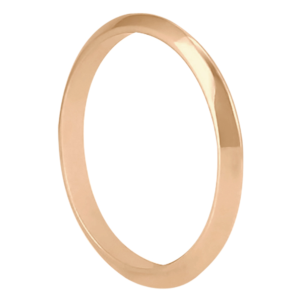 Women's Knife Edge Wedding Band Ring 14k Rose Gold (2.7 mm)