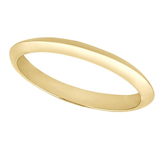 Women's Knife Edge Wedding Ring Band 14k Yellow Gold (2.7 mm)