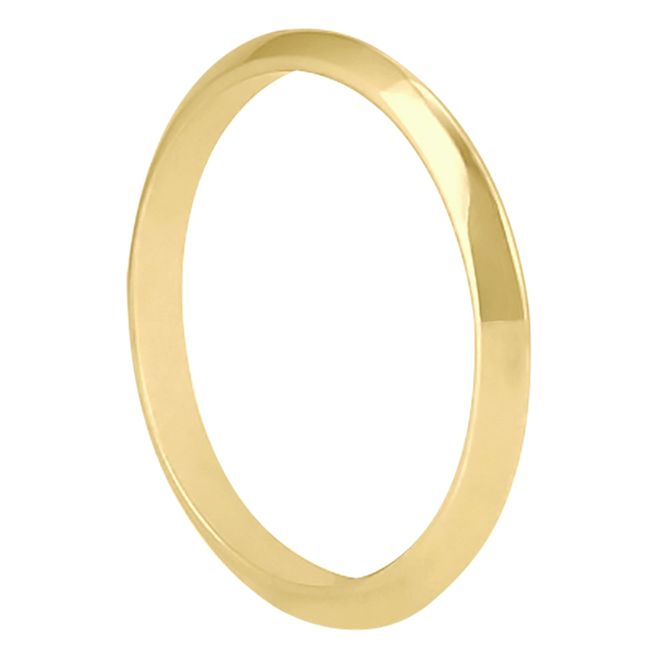 Women's Knife Edge Wedding Ring Band 14k Yellow Gold (2.7 mm)