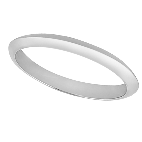 Knife Edge Wedding Band in 18k White Gold (2.7 mm)